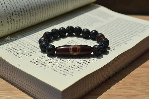 one eye dzi agate beaded bracelet