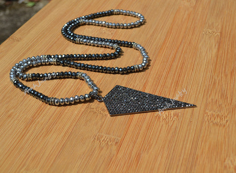 big arrowhead pendant necklace