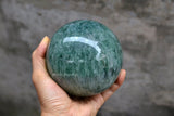 natural green healing collectible stone ball