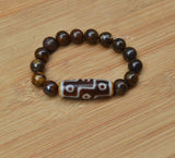 mens big Bead Dzi bracelet