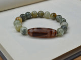 Trigon Dzi agate beaded bracelet