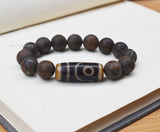 Mens big beads dzi bracelet
