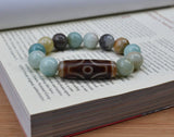 Tibetan womens big beads Dzi bracelet