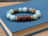 six eyes dzi bead bracelet