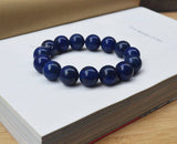 mens blue big beads Zen bracelet