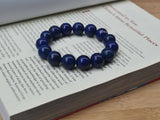 blue stone beads bracelet for father boyfriend husband