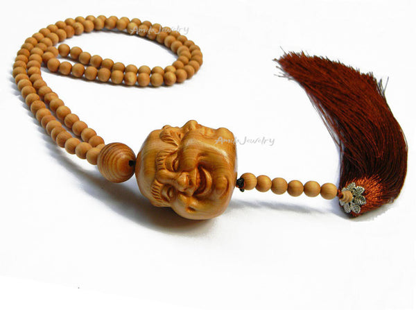 four-faced buddha tassel necklace