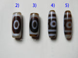 three eyes dzi agate beads