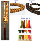 Zen buddhist wood beads necklace