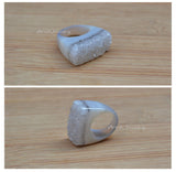 druzy ring cut from one whole agate