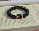 Tibet mens Dzi beaded bracelet