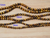 natural tiger eye beads polished 8mm 10mm 12mm