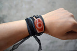 mens black cuff wristband