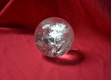 natural clear white quartz crystal sphere
