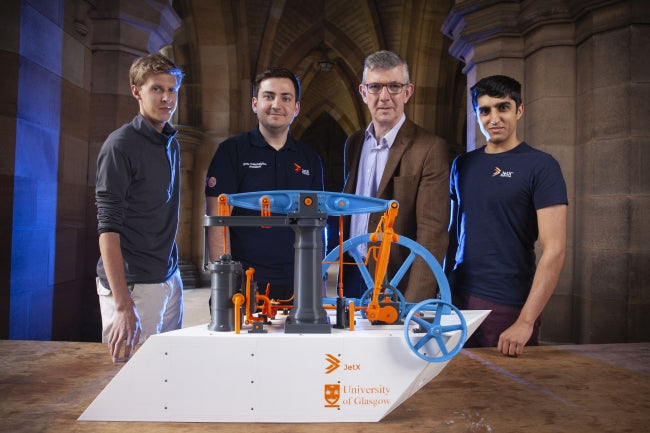 UofG Jetx Society and their 3D Printed Steam Engine Model