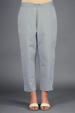Dharan 'Grey Narrow Pant' Grey Woven Pants