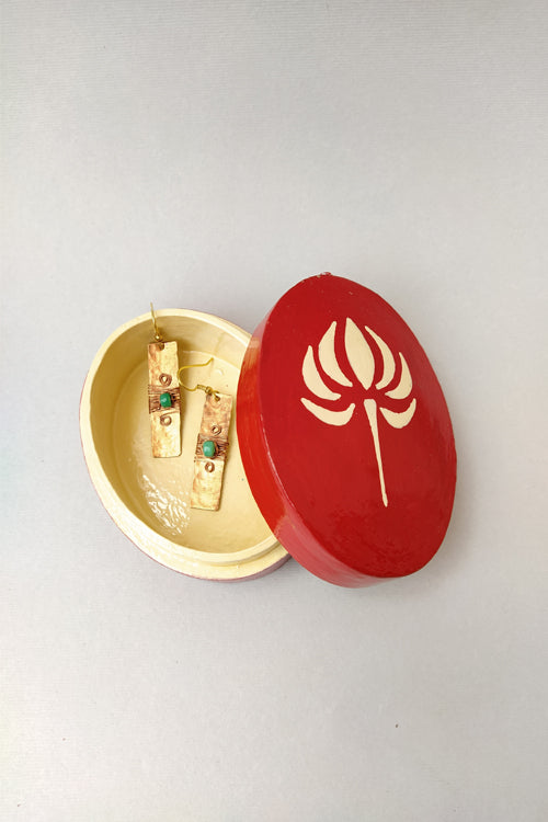 Sasha Home Accessories-Handcrafted Papier Mache Pin Box-1
