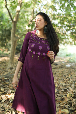 Okhai 'Elixir' Embroidered Cotton Dress