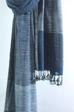 Handwoven Cotton organic cotton Natural dyed stole-2-shaft weave-style 1000