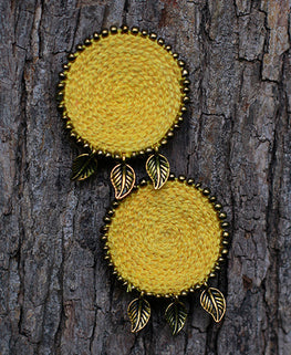 Okhai 'Trousseau' Yellow Handmade Earrings