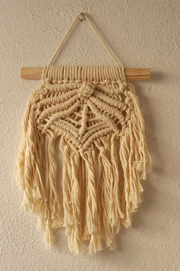 Rays Of Hope White Handcrafted Small Macrame Wall Hanging Online