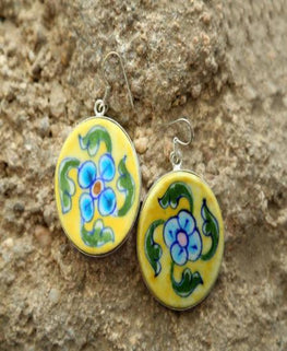Garden Blossom Ceramic Earrings