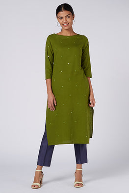 Okhai 'Pia' Embroidered Cotton Handloom Kurta
