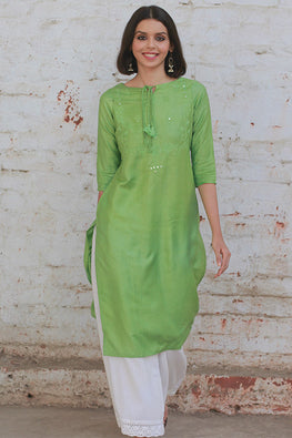 Okhai 'Luxurious Wreath' Tussar Silk Kurta