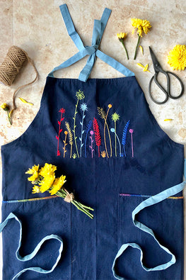 Okhai 'Tropical Fresh' Hand Embroidered Pure Cotton Women's Apron