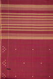 Hand-spun Pixel Flower Cotton Handloom Saree – Pink