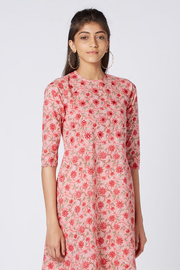 Okhai 'Diana' Hand Block Print Cotton Mul Dress