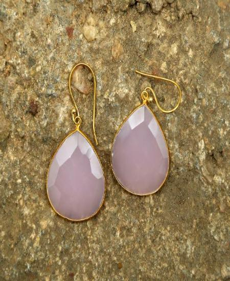 Light Pink - Natural Stone Earrings