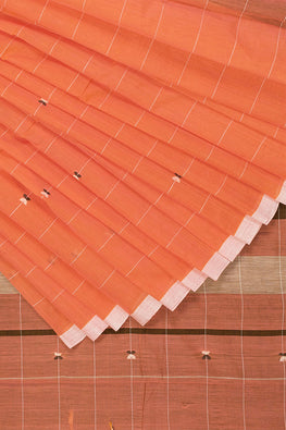 Floral  Saree Cotton and Handspun Handloom Saree – Peach