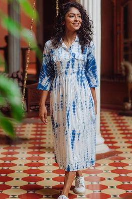 Okhai 'Asma' Tie-Dye Pure Cotton Dress