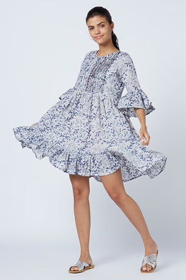 Okhai 'Delilah' Cotton Hand Block Print Dress