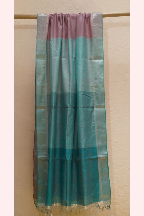 Silk cotton Maheshwari Dupatta with Gradation