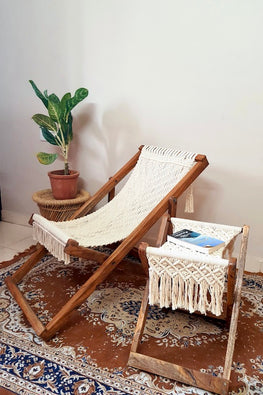 Macrame Foldable Stool