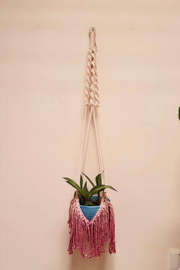 Fringing Pretty Dip-Dyed Plant hanger