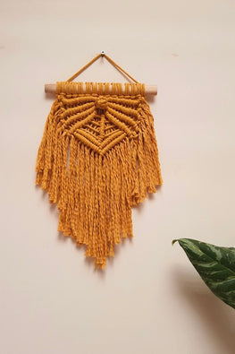 Macramé Rays-of-hope-Wall-Hanging - Small (Mustard)