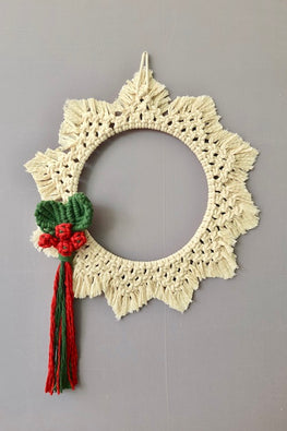 Christmas Wreath Macrame Wall Hanging Online