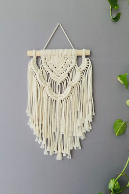 Macrame Handcrafted 'Waterfall' Wallhanging - Small