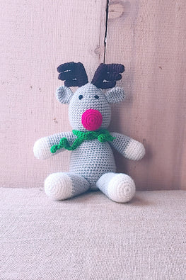 The Color Caravan 'Rudolf Reindeer ' Hand Crochet Acrylic Wool Toy