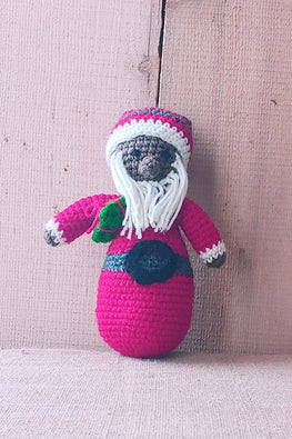 The Color Caravan Hand Crochet Acrylic Wool Santa Claus Toy Online