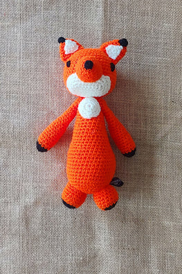 The Color Caravan Hand Crochet Acrylic Wool Foxy Fox Toy Online