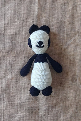 The Color Caravan Hand Crochet Acrylic Wool Gogo Panda Soft Toy Online