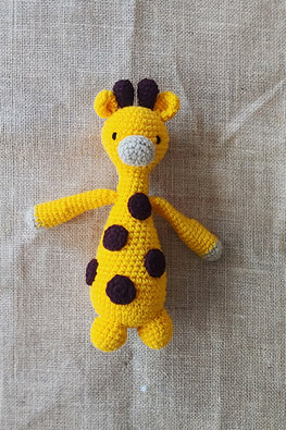 The Color Caravan Hand Crochet Acrylic Wool Joey Girafee Toy Online