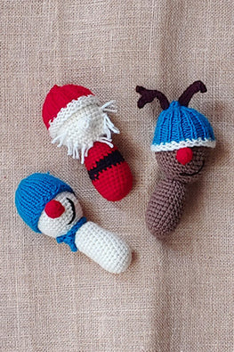 The Color Caravan Hand Crochet Acrylic Wool Christmas Buddies Toy Online