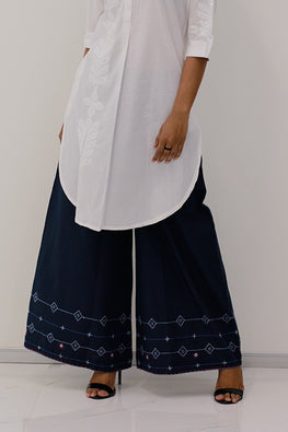 Okhai 'Weekend Mood' Suf Embroidered Cotton Palazzos