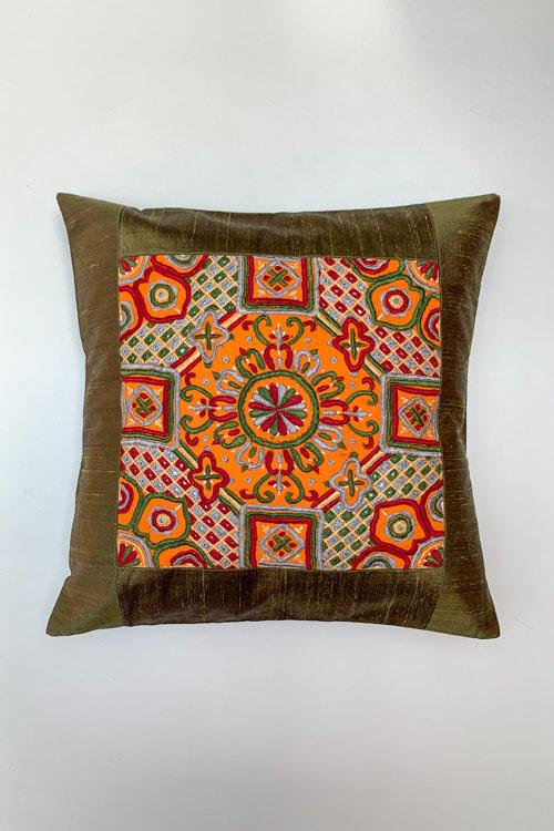 Shrujan Pakko Embroidery Cushion Cover