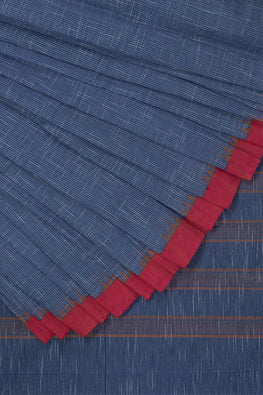 Kuppadam Sirigadi Cotton and Handspun Handloom Saree – Blue